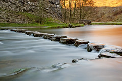 Stepping stones col (jim-green777) Tags: longexposure morning winter sunrise river nationalpark nikon derbyshire peakdistrict steppingstones flowing derby goldenhour dovedale ashbourne d300 thorpecloud riverdove nd110 10stops