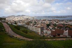 Las Palmas (Janne Maikkula) Tags: landscape town meri maisema palmas kaupunki canariaislands kaupunkimaisema ikithule
