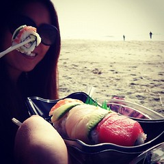 Sushi on the beach