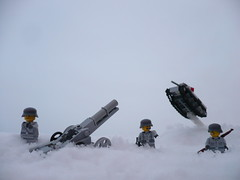 High flyer! (Rebla) Tags: snow lego wwii ww2 fp forcedperspective