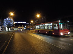 Late Night Rail Replacement (Brighton VR) Tags: road bus station night town shot replacement rail east company southern transit service citybus daf ikarus oxted sb220