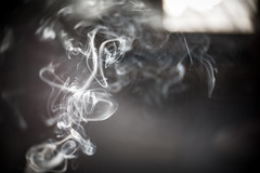 second hand smoke (angsthase.) Tags: light abstract licht bokeh smoke 2012 mft explored micro43 olympuspenepl1 slrmagictoylens26mmf14