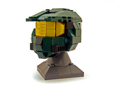 Master Chief Helmet 01 (Legohaulic) Tags: lego helmet halo commission masterchief