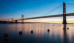 Bay Bridge (maxcphotography) Tags: ocean bridge sea water clouds sunrise bay pier nikon san francisco long exposure tripod d800 1424mm