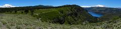Panorama Laguna El Barco (Mono Andes) Tags: chile panorama mountainbike andes araucaria araucariaceae chilecentral regióndelbiobío volcáncopahue volcáncallaqui lagunaelbarco