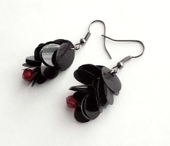 Black upcycled earrings (d'ekoprojects) Tags: recycled handmade jewelry ecofriendly handmadejewelry handmadeearrings upcycled ecochic blackearrings recycledjewelry blackjewelry ecofriendlyfashion ecofriendlyjewelry recycledearrings upcycledjewelry recycledplasticbottle upcycledearrings