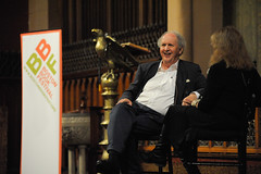 Alexander McCall Smith and Robin Young (bostonbookfestival) Tags: boston unitedstates massachusetts events newengland northamerica author backbay churchofthecovenant alexandermccallsmith professions eventphotography mikeritter photographystyle bostonbookfestival ritterbinphotography