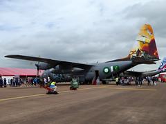4144 / 144 Lockheed L-100 Hercules cn 382-4144 Pakistan Air Force Fairford 09Jul16 (kerrydavidtaylor) Tags: 64144 c130e l382b