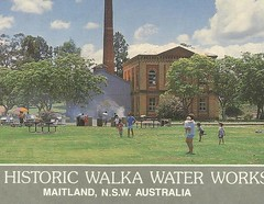 Walka Water Works, Maitland, N.S.W. (maitland.city library) Tags: maitland newsouthwales walka water works waterworks oakhampton picnic park recreation colour postcards