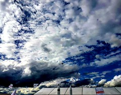A picture from my he Farnborough Airshow, the impressive F35 against an even more impressive sky  (minhosa27) Tags: sky skyline bluesky clouds view air
