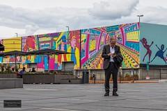 Life in a Pushwagner painting (Torbjrn Tiller) Tags: pushwagner oslo akerbrygge steet painting streetart colors
