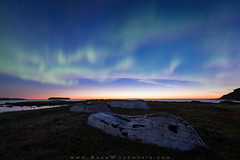 Northern Lights and Old Boats (Adam Woodworth) Tags: aurora canada lanseauxmeadows newfoundland night norstead northernlights stars