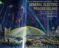 1964 NYWF Vintage Ads - IMGP3589 (catchesthelight) Tags: waltdisneyart progressland ge 1964 nywf vintageads futurama peacethroughunderstanding worldsfair worldsfairgrounds ny nyc queens unisphere flushingmeadownewyork newyorkworldsfairsouvenirbooklet 1960s advertising copyrighted 196465nyworldsfair souvenirs buildings miniphotos handheldshots notscans 19641965 communications picturephones futuristic globalweathercenter spaceage atomicage multiwheelcrawlers automatichighways resorthotelsbeneaththesea