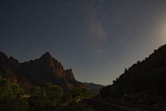 Zion (phileisenberg) Tags: mountain redrock sony alpha a7 canon 15mm milkyway night longexposure zion utah