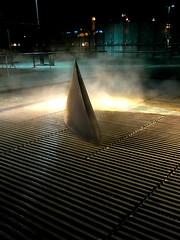 Bilbao Shark (Bruce Poole) Tags: 2016 2016basque architecture basque basquecountry bilbao brucepoole costavasca julliet july paysbasque spain airvent julio steam uztaila light vent lighting blue