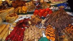 Display of Night Market Food, Forodhani Gardens, Stone Town, Zanzibar, Tanzania (dannymfoster) Tags: africa tanzania zanzibar stonetown forodhanigardens nightmarket food fish skewers