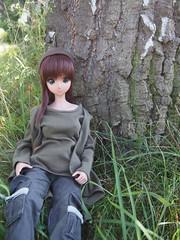 Ebony's also enjoying the nature *___* (sh0pi) Tags: smart doll ebony futaba danny choo culture japan puppe 2016 outside tan