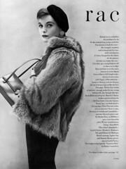 Jaunty Little Beret (jerkingchicken) Tags: furcoat french beret hat vintagefashion