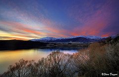 0S1A3020enthuse (Steve Daggar) Tags: newzealand sunset lake lakehayes winter mountains snowcappedmountains
