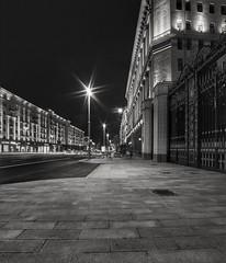 Tverskaya. Moscow. (rededia) Tags: cityscape city street streetview road monochrome architecture building urban blackandwhite night moscow nikon samyang