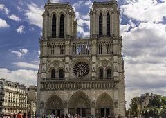 Notre Dame de Paris (Sorin Popovich) Tags: cathedral church city architecture blue builtstructure capitalcities christianity colourimage day europe europeanunion famousplace france frenchculture history internationallandmark notredamedeparis ornate outdoors people photography placeofworship religion sky spirituality standing sunlight sunny tourism tourist tower travel traveldestinations vertical westerneurope westerneuropeanculture gothicarchitecture catholicchurch catholicism paris iledefrance sculpture