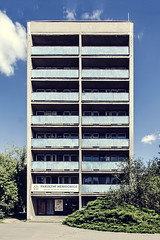 Hradec modernism (Bless your life) Tags: czechy czech hradeckralove dormitory modernism modern contemporary architecture sunny outdoor city building