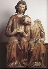 St John Resting on Jesus Chest, walnut, Germany, c. 1320 // by Unknown Master, Museum Mayer van den Bergh, Antwerp (mike catalonian) Tags: stjohn christ walnut wood germany 1320 xivcentury medieval middleage
