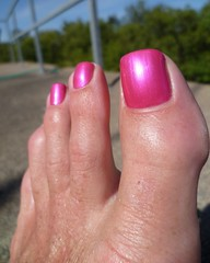 Amazing in sun (toepaintguy) Tags: male guy men man masculine boy nail nails fingernail fingernails toenail toenails toe foot feet sandal sandals polish lacquer gloss glossy shine shiny sexy fun daring allure gorgeous glitter pure ice free fall pink shimmer incredible audacious