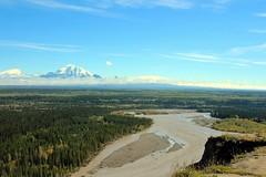 Mt. Wrangell (left) & Mt. Blackburn (right) (neukomment) Tags: august alaska canont5i copperriver wrangellmountianrange sky mountians wrangellsteliasnp creation nature