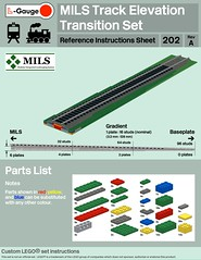 MILS Track Elevation Transition Set Instructions (michaelgale) Tags: lego trains track instructions lgaugeorg lgauge mils