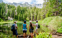 The Mountians are Calling (UniquelyHis4ever) Tags: mountain hill hike walk lake mammoth hiking hikers adventrure godscreation family fun mammothlakes emeraldlake awe explore nature outdoors mountians dayhike creation trees landscape