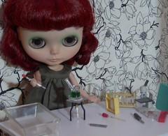 BaD Sept 24 - Science (lyndell23) Tags: blythe blytheaday blythedoll gentleriverblythe customisedgrblythe rement miniature