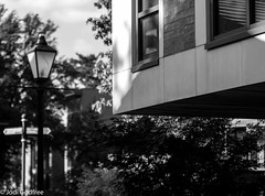 Architecture new building, lamp post and sign (dave and jodi piddington) Tags: lamppost posts signs sign art blackandwhite urbex urban monochrome