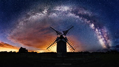 Windmill under the milky way... (etienneblaszczyk) Tags: windmill milkyway pointe du van finistre france