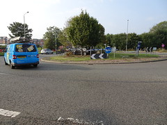 What would Nelson say? (stevenbrandist) Tags: audi slinetdi car collision damage roundabout error leicestershire mountsorrel motoring ao60yrp