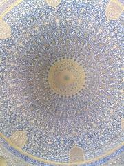 Ceiling of the Imam mosque, Isfahan (Felix Krohn) Tags: isfahan esfahan esfehan iran mosque moschee 2016