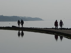 Lake Walkers (Thomas Kelly 48) Tags: panasonic lumix fz150 wirral westkirby riverdee silhouette