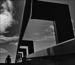 F_DSC8813-BW-Nikon D800E-Nikkor 24-70mm-May Lee  (May-margy) Tags:  maymargy bw               taiwan repofchina streetviewphotographytaiwan mylensandmyimagination linesformandlightandshadows naturalcoincidencethrumylens viewfromback silhouette blur bokeh   humaningeometry