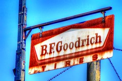 Old Goodrich sign (mrgraphic2) Tags: indianapolis indiana old goodrich sign logo rust metal