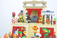 The Priest (Cuahchic) Tags: lego aztecs temple sacrifice duel foitsop minifig mesoamerica priest