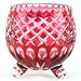 182. Bohemian Ruby Cut to Clear Crystal Vase