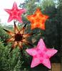 4 Window Stars I Made - Watermelon Theme