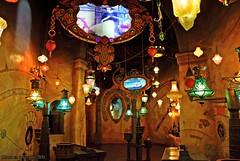 The Illuminati...[Explore] (Ring of Fire Hot Sauce 1) Tags: lights lanterns luminaires magicmirror disneycaliforniaadventure animationacademy sorcerersworkshop