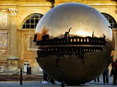 Acorn courtyard sphere (tvordj) Tags: italy vatican rome round publicart gamewinner herowinner pregamewinner