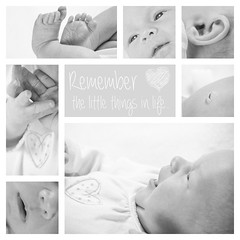 Remember the Little Things... (Brett Perucco) Tags: baby collage remember annika little things brett tiny perucco wwwperuccophotographycom