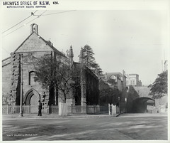 The Garrison Church at the Argyle Cut, The Rocks (NSW) (State Records NSW) Tags: blackandwhite trinity archives newsouthwales therocks staterecordsnsw johndegotardijr srnsw:series=4481
