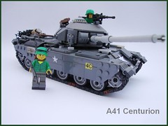 A41 Centurion (1) ([Maks]) Tags: world 2 team model war gun tank lego military main poland battle ii armor british minifig centurion a41 moc brickarms lugpol