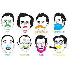 movember-1024x1024-ipad (thesenioritis) Tags: wallpaper movember mustache martinlutherking abelincoln teddyroosevelt edgarallanpoe grouchomarx friedrichnietzsche hermanmelville