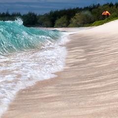 """Wait and see!"" (helmet13) Tags: d300s raw studies mauritius ocean wave beach summer parasol peaceaward platinumpeaceaward world100f nature tropical"