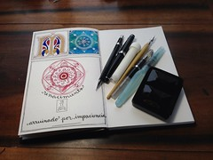 Lazy Weekend (MagaMerlina) Tags: ink watercolor journal mandala sketchbook visualjournal watercolour journals artjournal mandalas artistjournal winsorandnewton artjournals visualdiary illustratedjournal bijoubox sketchingtools illuminatedjournal illuminateddiary stillmanandbirn